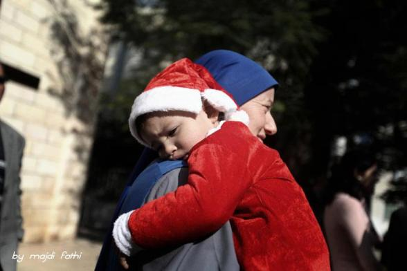 Preparations for Christmas in Gaza - Dec 16, 2012 Photo by Majdi Fathi