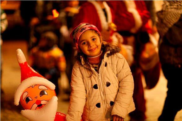 Festivities in advance of Christmas in Jerusalem - Dec 16, 2012 Photo by WAFA