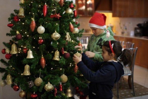 Dec 11, 2012 Wafa - Beit Sahour preparing for Christmas