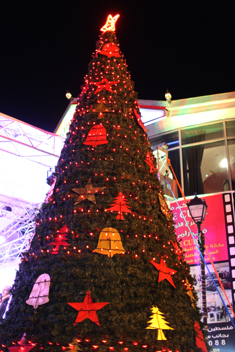 Dec 12 2012  Ramallah - Christmas tree lighting Photo by Mohamed Farrag/WAFA