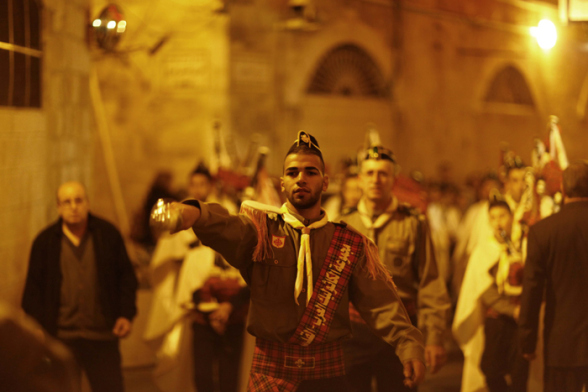Dec 18 2012 - Jerusalem - Events and atmosphere of Christmas in the Old City of Jerusalem Photo by Afif Emera - WAFA