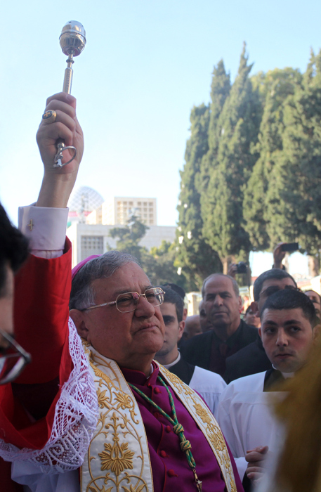 Dec 24 2012 - Bethlehem - Patriarch Fouad Twal at Mass at the Church of the Nativity Photo by Eyad Jadallah