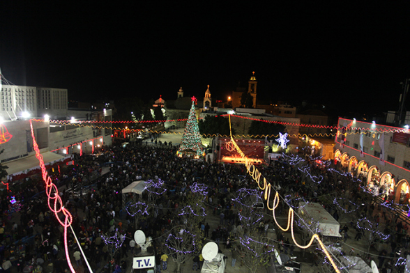 Dec 24 2012 Bethlehem - Square Nativity on Christmas Eve Photo by WAFA