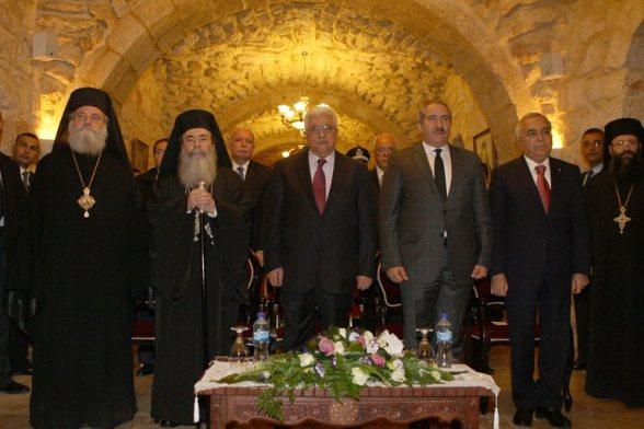 Dec 24 2012  President Mahmoud Abbas during his participation in a Greek Orthodox ceremony  Photo by Thaer Ghanaim