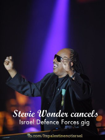 Steve Wonder Cancelled Concert of Group Supporting IDF