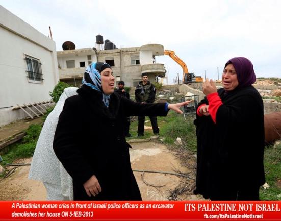 Israel demolishes house in Beit Hanina, Jerusalem-5-Feb-2013-Itspalestinenotisrael_pic-19