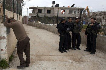 Israel demolishes house in Beit Hanina, Jerusalem-5-Feb-2013-Itspalestinenotisrael_pic-2