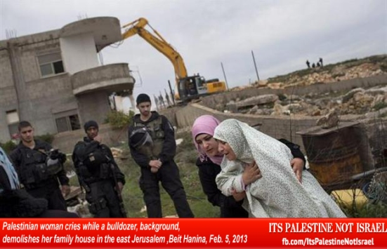 Israel demolishes house in Beit Hanina, Jerusalem-5-Feb-2013-Itspalestinenotisrael_pic-21