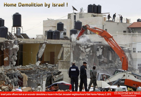 Israel demolishes house in Beit Hanina, Jerusalem-5-Feb-2013-Itspalestinenotisrael_pic-25