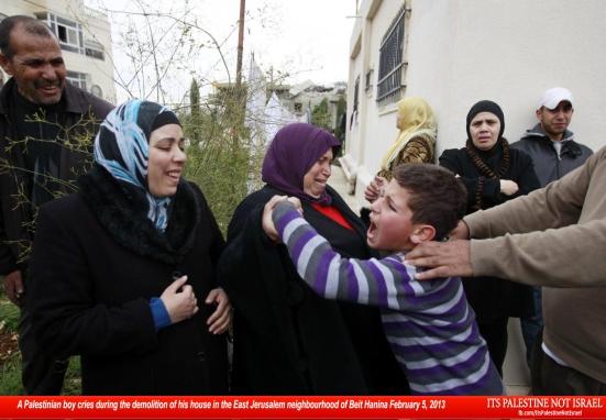 Israel demolishes house in Beit Hanina, Jerusalem-5-Feb-2013-Itspalestinenotisrael_pic-26