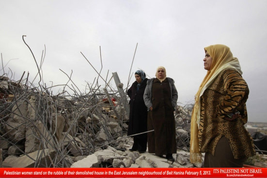 Israel demolishes house in Beit Hanina, Jerusalem-5-Feb-2013-Itspalestinenotisrael_pic-27