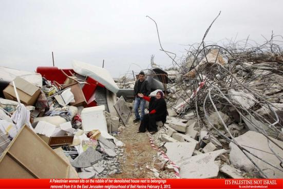 Israel demolishes house in Beit Hanina, Jerusalem-5-Feb-2013-Itspalestinenotisrael_pic-28