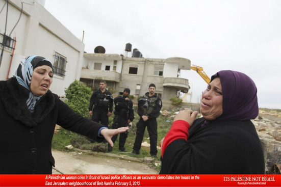 Israel demolishes house in Beit Hanina, Jerusalem-5-Feb-2013-Itspalestinenotisrael_pic-29