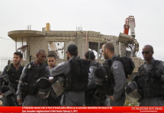 Israel demolishes house in Beit Hanina, Jerusalem-5-Feb-2013-Itspalestinenotisrael_pic-30