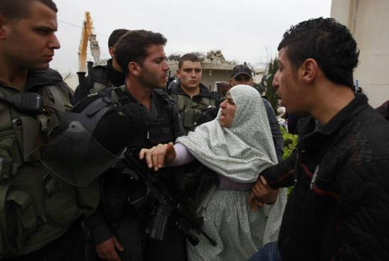 Israel demolishes house in Beit Hanina, Jerusalem-5-Feb-2013-Itspalestinenotisrael_pic-31