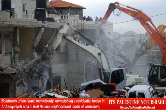 Israel demolishes house in Beit Hanina, Jerusalem-5-Feb-2013-Itspalestinenotisrael_pic-6