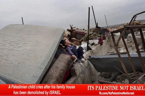 Israel demolishes house in Beit Hanina, Jerusalem-5-Feb-2013-Itspalestinenotisrael_pic-8