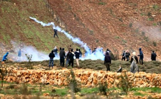 Jan 5 2013 – Clashes with Israeli soldiers after settler attack villagers – Qasra Nablus district