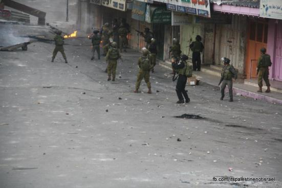 Clashes in Hebron on March_15_2013_01