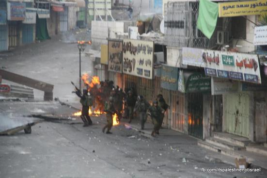 Clashes in Hebron on March_15_2013_02