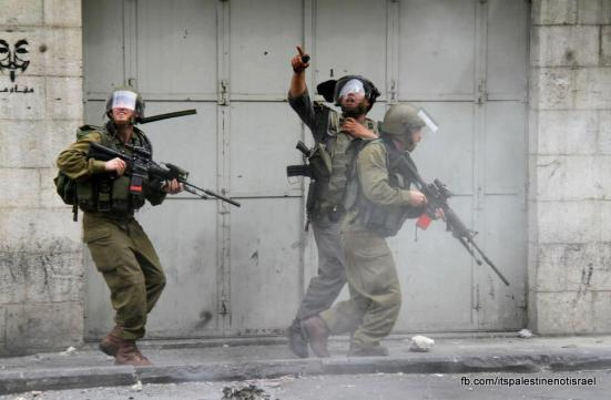 Clashes in Hebron on March_15_2013_07