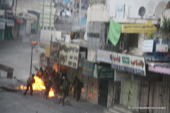 Clashes in Hebron on March_15_2013_09