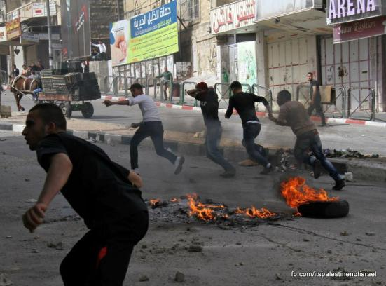 Clashes in Hebron on March_15_2013_11