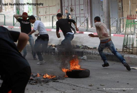 Clashes in Hebron on March_15_2013_14