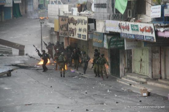 Clashes in Hebron on March_15_2013_17