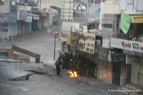 Clashes in Hebron on March_15_2013_22