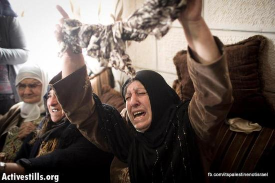 Funeral of Palestinian killed by Israel, al-Ram, March_15_2013_02