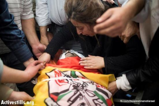 Funeral of Palestinian killed by Israel, al-Ram, March_15_2013_06