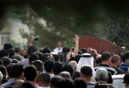 Funeral of Palestinian killed by Israel, al-Ram, March_15_2013_07