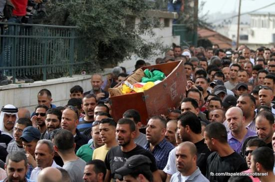 Funeral of Palestinian killed by Israel, al-Ram, March_15_2013_08