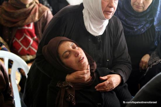 Funeral of Palestinian killed by Israel, al-Ram, March_15_2013_09