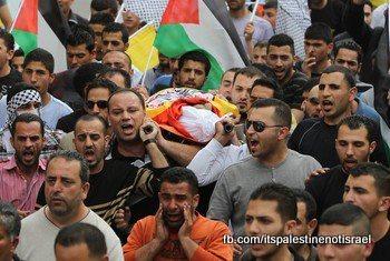 Funeral of Palestinian killed by Israel, al-Ram, March_15_2013_11