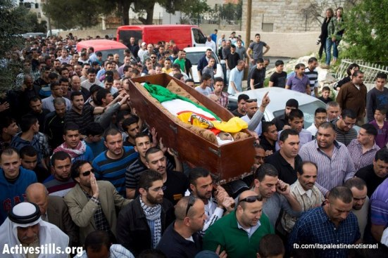 Funeral of Palestinian killed by Israel, al-Ram, March_15_2013_19