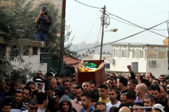 Funeral of Palestinian killed by Israel, al-Ram, March_15_2013_21