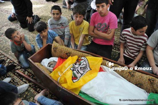Funeral of Palestinian killed by Israel, al-Ram, March_15_2013_26