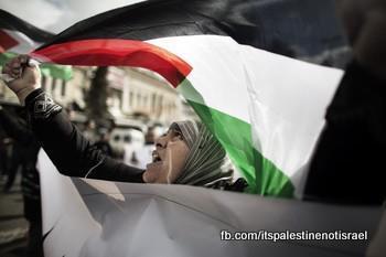 Protest against Israeli marathon, March 1, 2013_04