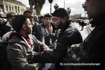 Protest against Israeli marathon, March 1, 2013_06