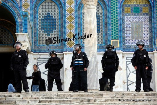 Protest in support of prisoners, Al-Aqsa, Jerusalem, Feb 22_15