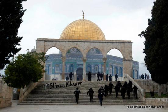 Protest in support of prisoners, Al-Aqsa, Jerusalem, Feb 22_19