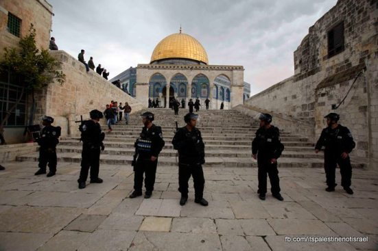 Protest in support of prisoners, Al-Aqsa, Jerusalem, Feb 22_24