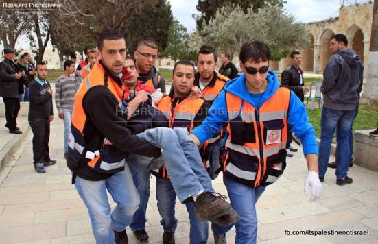 Protest in support of prisoners, Al-Aqsa, Jerusalem, Feb 22_25