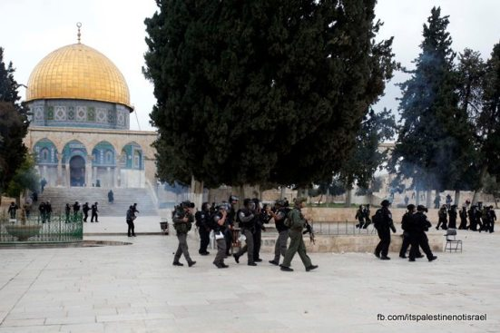 Protest in support of prisoners, Al-Aqsa, Jerusalem, Feb 22_27