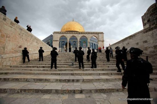 Protest in support of prisoners, Al-Aqsa, Jerusalem, Feb 22_29