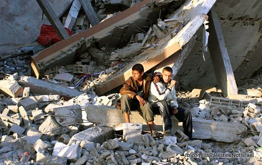 boys-ruins-gaza-strip