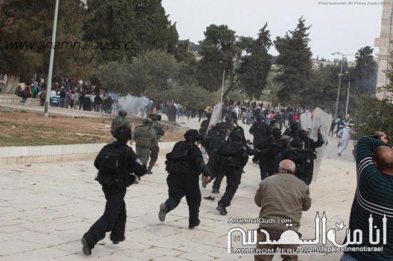 Israeli occupation forces storm Al-Aqsa compound_March_8_2013_05