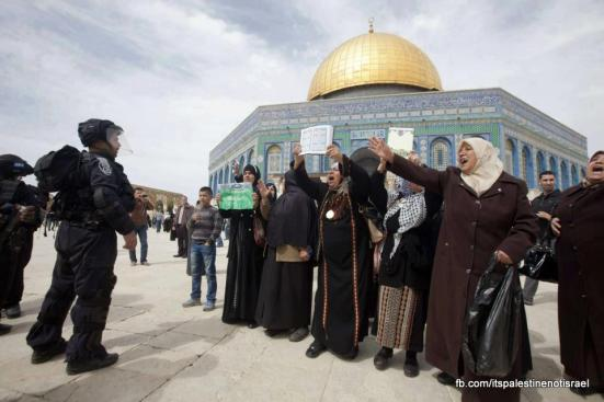 Israeli occupation forces storm Al-Aqsa compound_March_8_2013_08